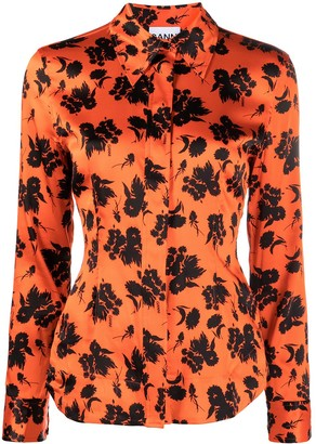 Ganni Floral Print Tailored Shirt