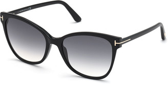 Tom Ford Ani Oversized Plastic Cat-Eye Sunglasses
