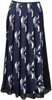 Victoria Beckham sheer panel pleated skirt