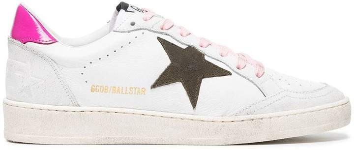 Golden Goose White Ball Star leather sneakers