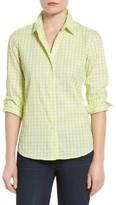 Foxcroft Petite Women's Crinkled Gingham Shirt