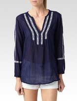Paige Tess Top - Evening Blue