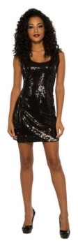 BuySeasons Women's Sassy Black Sequin Dress Adult Costume