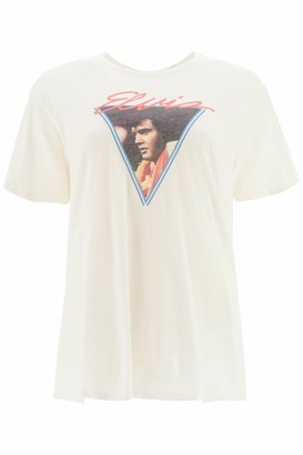 R 13 VEGAS ELVIS T-SHIRT M White Cotton, Cashmere