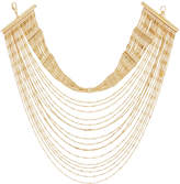 Lydell NYC Layered Multi-Row Choker Necklace, Yellow Golden