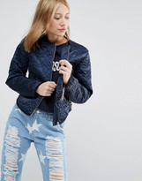Love Moschino Quilted Heart Jacket
