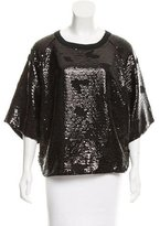 See by Chloe Sequin Embellished Short Sleeve Top