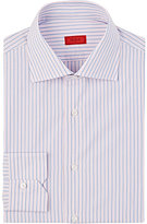 Isaia Men's Striped Frank Shirt-PINK