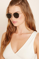 Forever 21 FOREVER 21+ Metal Aviator Sunglasses