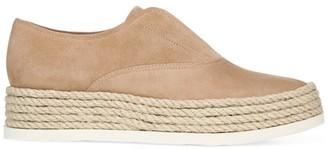 Via Spiga Berta Rope & Suede Slip-On Sneakers