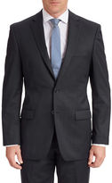 Calvin Klein Blue Tonal Check Modern Fit Wool Suit Jacket