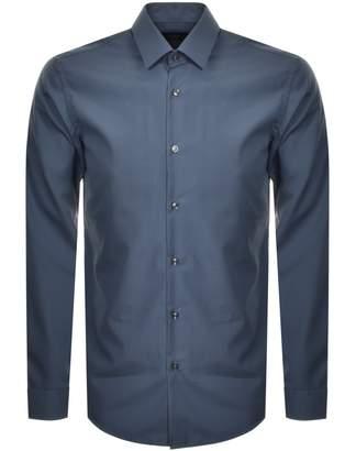 HUGO BOSS Boss Business Slim Fit Isko Shirt Blue