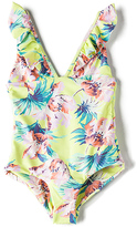 Tori Praver Swimwear Keiki Victoria One Piece in Yellow. - size L (also in M,S)