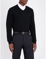 Armani Collezioni V-neck knitted cotton jumper