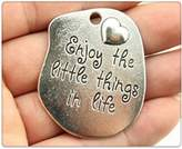 Nobrand No brand 3pcs 45*37mm antique silver plated enjoy life message charms