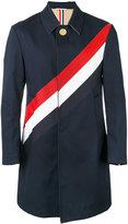 Thom Browne diagonal stripe coat - men - Cotton - 2