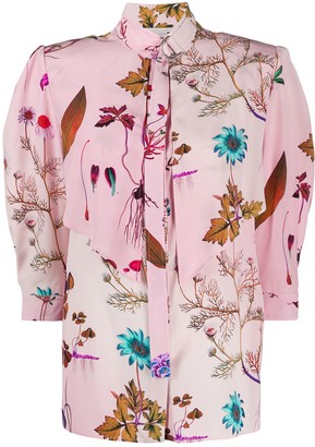 Stella McCartney Graphic Print Rounded Shoulders Blouse