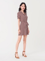 Diane von Furstenberg Jett Silk Crepe de Chine Mini Shirt Dress