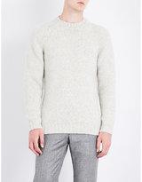 John Smedley Storr Herringbone-knit Wool Jumper