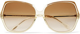 Oliver Peoples Nicola 64 square-frame acetate sunglasses