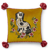Gucci Velvet cushion with Spaniel dog embroidery