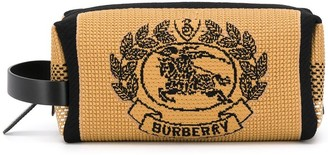 Burberry Archive Crest knitted pouch