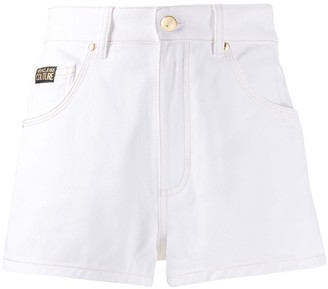Versace High-Rise Denim Shorts