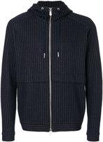 Eleventy pinstriped hooded jacket - men - Cotton/Virgin Wool - S