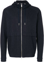 Eleventy pinstriped hooded jacket