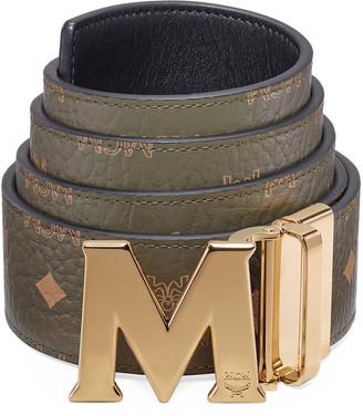 MCM Men's Claus Monogram Reversible Belt