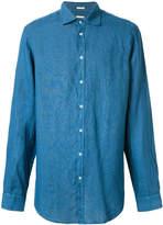 Massimo Alba round collar Canary shirt