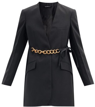 Givenchy Chain-belt Wool-crepe Suit Jacket - Black