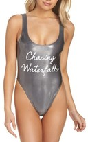 Private Party Women's Chasing Waterfalls Metallic One-Piece Swimsuit
