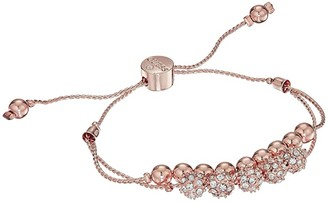 GUESS Double Row Round Bead and Fireball Slider Bracelet (Rose Gold/Crystal) Bracelet