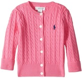 Ralph Lauren Cable-Knit Cotton Cardigan Girl's Sweater