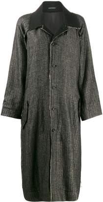 Yohji Yamamoto distressed-detail oversized coat