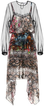 Preen by Thornton Bregazzi Fredi snakeskin-printed silk dress