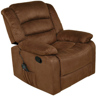 Comfort Products / Relaxzen Relaxzen Rocker Recliner With Massage, Heat and Dual USB, Brown