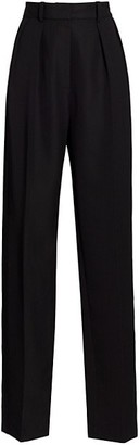 Victoria Beckham High Waisted Double Pleat Tux Trousers