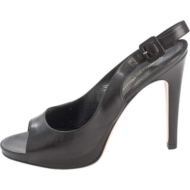 Gianvito Rossi Black Leather Sandals