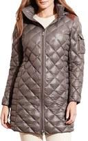 Lauren Ralph Lauren Plus Size Women's Down Coat With Faux Suede Trim
