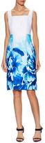 Donna Ricco Floral Print Squareneck Sheath Dress