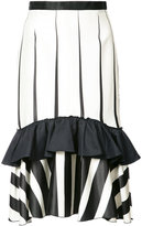 Tome striped frill-trim skirt - women - Silk/Cotton/Viscose - 4