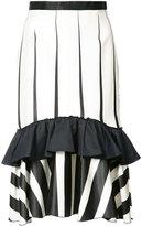 Tome striped frill-trim skirt - women - Silk/Viscose/Cotton - 2