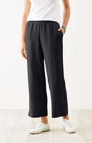 black linen cropped pants - Pi Pants