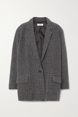 Etoile Isabel Marant Kaito Houndstooth Wool-tweed Blazer - Gray