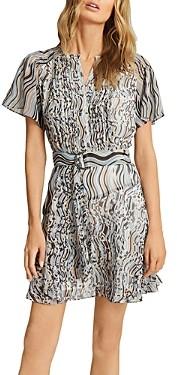Reiss Mildred Swirl Print Mini Dress