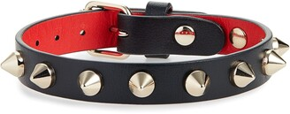 Christian Louboutin Loublink Studded Leather Bracelet