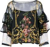 Alberta Ferretti semi sheer blouse