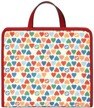 Gucci Kids Heart-Print Tote Bag